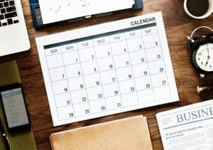Maintain schedule with calendar and clock