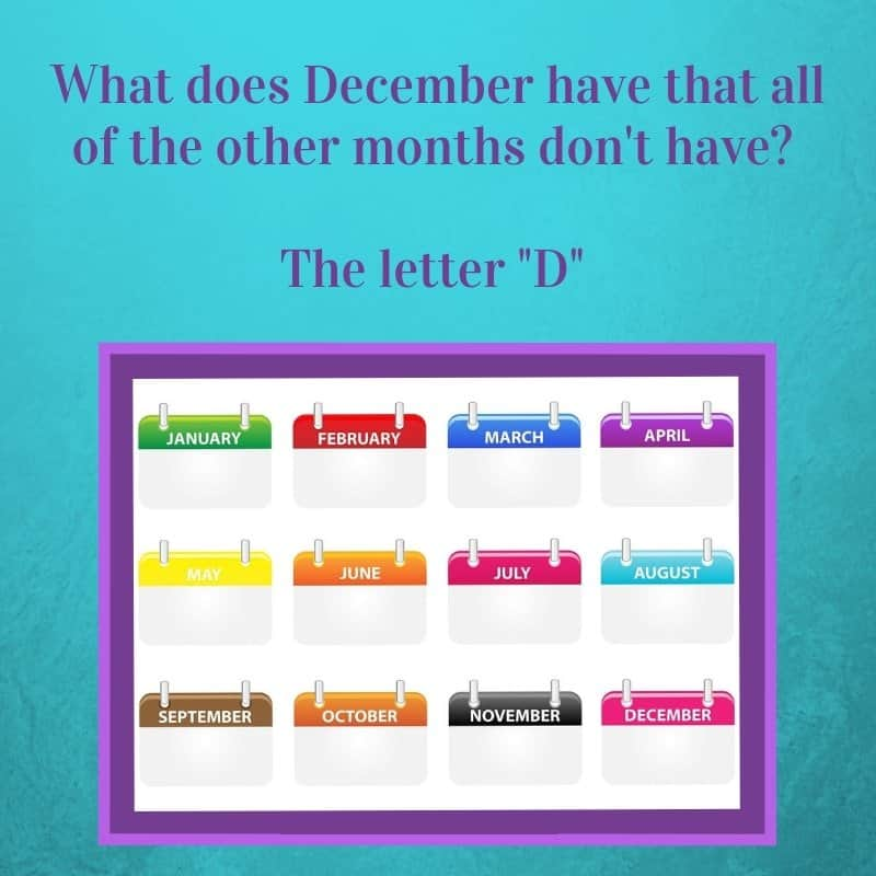 Holiday riddles with answers calendar