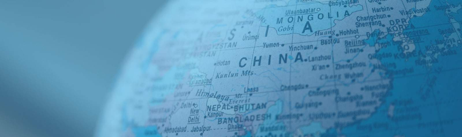 Online ESL teaching requirements for China- map of China