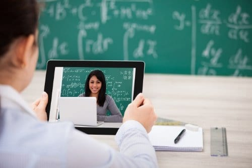 Improve your online teaching picture of teacher and student