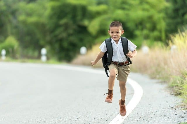 Kinesthetic learners boy running