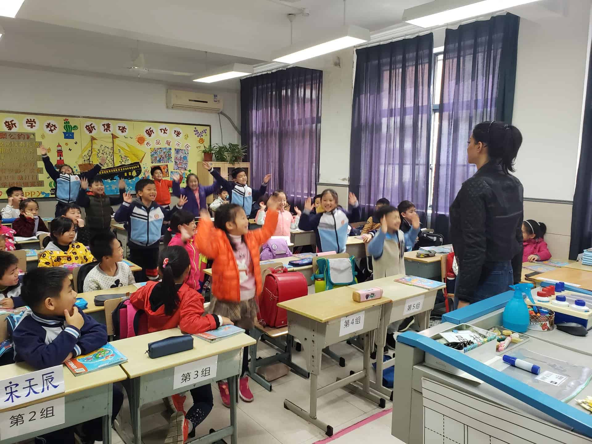 Chinese classroom winter