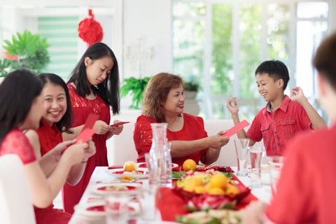 Chinese New Year Family Celebration.