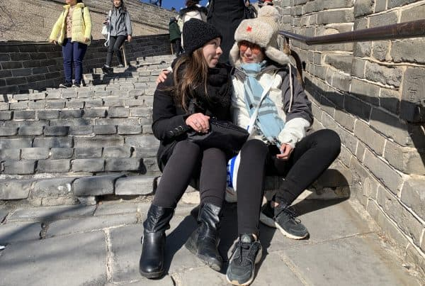 With Hannah At The Great Wall Last Part Of The Trip