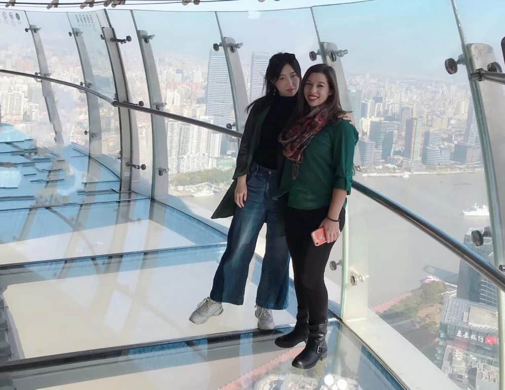 With Hannah In Shanghai At The Orientail Pearl Tv Tower