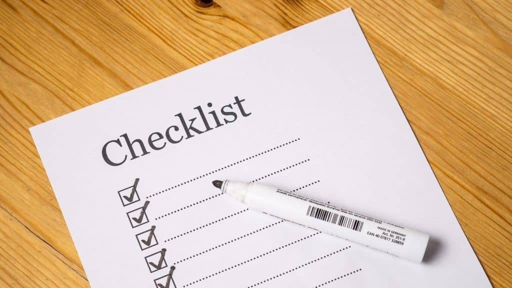 Online Teaching Checklist Photo