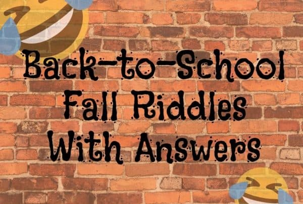 Back To School Fall Riddles With Answers