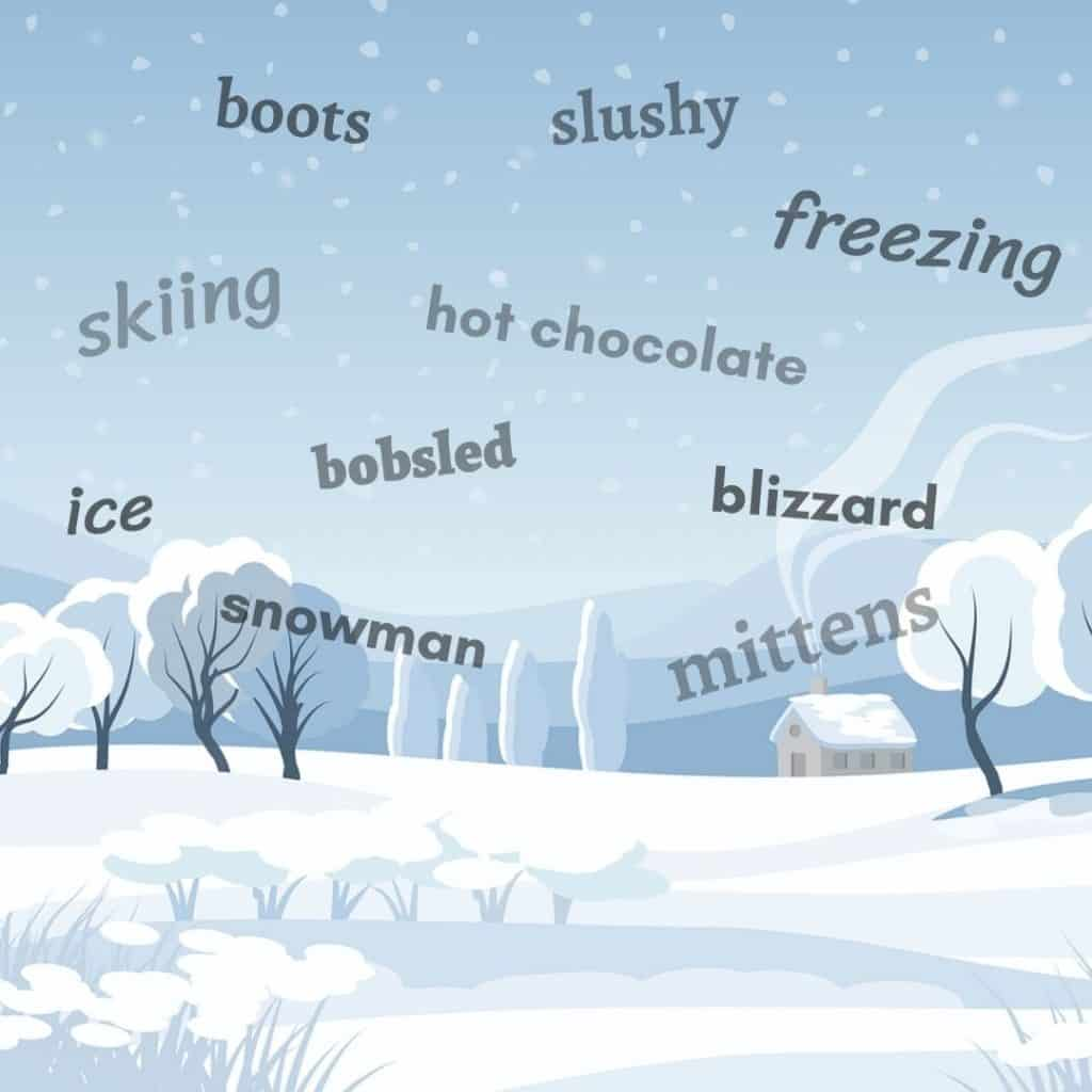 Winter Words For Esl Students